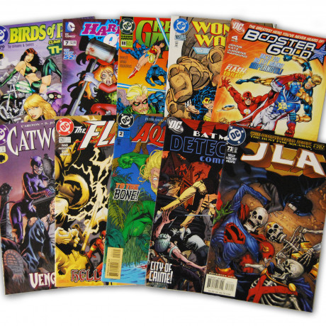 10 Random DC Superhero Comic Collection with Batman and JLA/JSA
