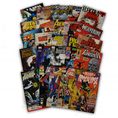 25 Random Marvel Superhero Comic Collection with X-Men and Wolverine