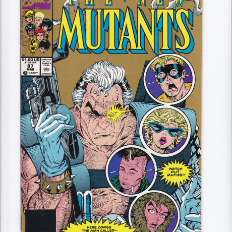 New Mutants #87 2nd Printing Gold Variant 1st Appearance of Cable VF/NM