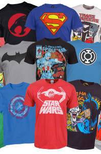3-Pack Men's Superhero T-Shirts Mystery Deal