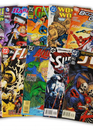 10 Random DC Superhero Comic Collection with Superman and JLA/JSA