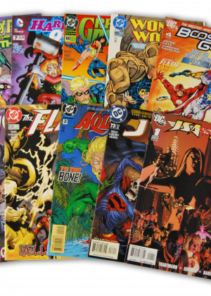 10 Random DC Superhero Comic Collection with JLA/JSA
